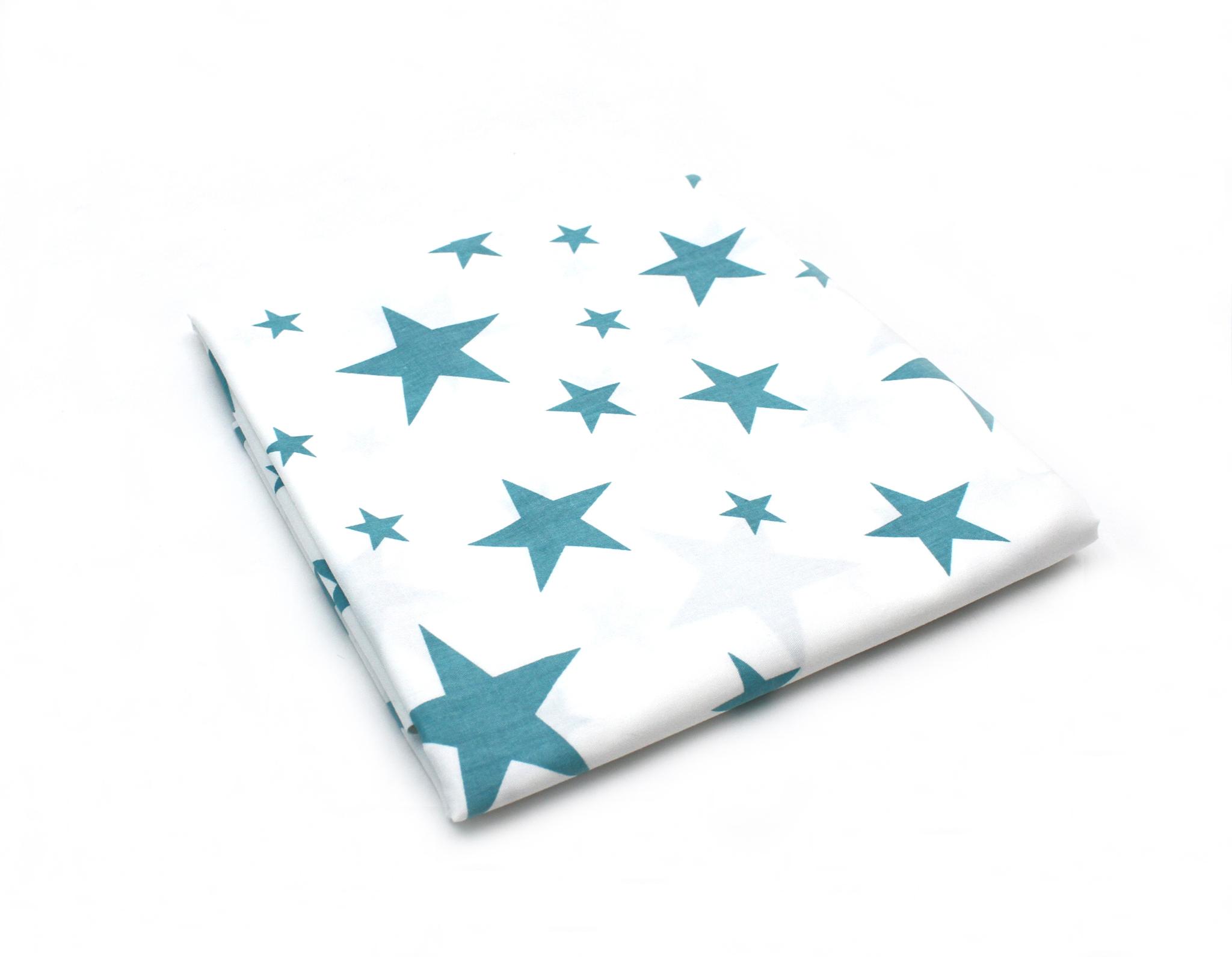 Звезды голубые на белом