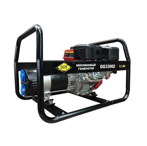 Генератор бензиновый DDE GG3300Z (1ф ном/макс.  2,8/3,1 кВт, DDE UP170, т/бак 3.6л, ручн./ (GG3300Z)