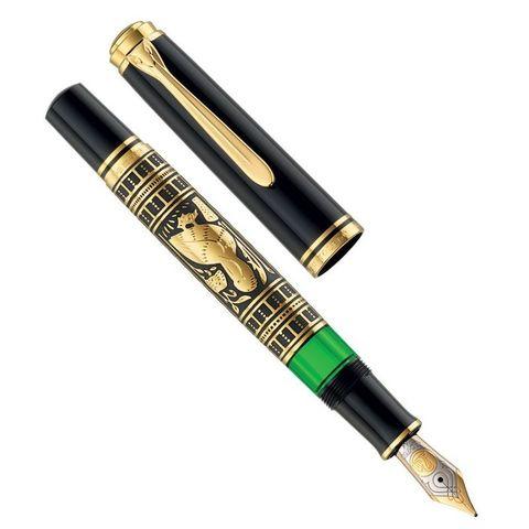 Ручка перьевая Pelikan Toledo M 900 (PL924597) черный серебро 925 пробы 16.9г F перо золото 18K с родиевым покрытием подар.кор.