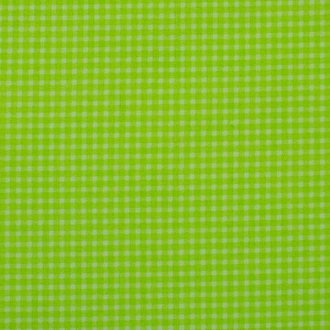 Ткань хлопковая зеленая клетка, отрез 50*80 см