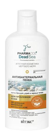 Витекс PHARMACos Dead Sea ПЕНКА антибактериальная против прыщей, угрей и черных точек 150 мл