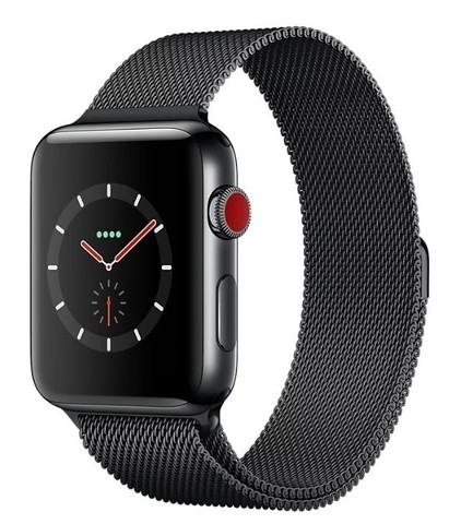 Watch S3 Cellular 38mm Space Grey Stainless Steel Case with Milanese Loop