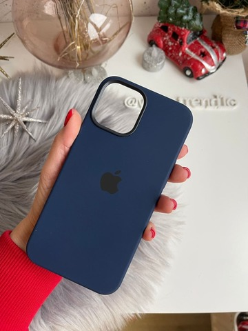 Чехол iPhone 12/12 Pro Silicone Case with MagSafe /deep navy/
