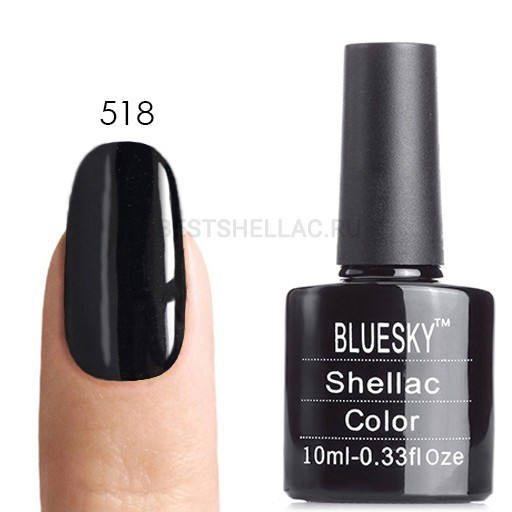 Bluesky Shellac 40501/80501 Гель-лак Bluesky № 40518/80518 (LV 178) Black Pool, 10 мл 518.jpg