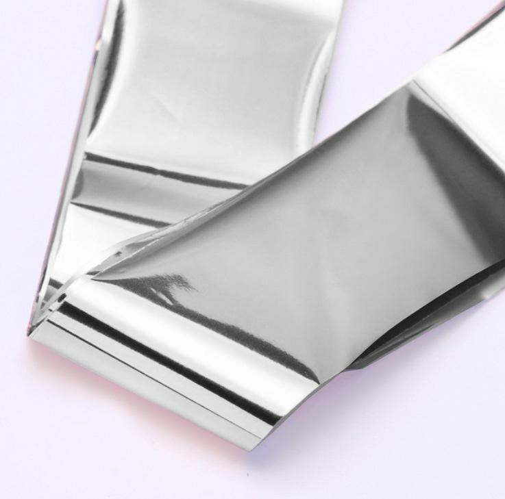 Фольга для дизайна ногтей (серебро)