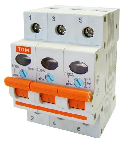 Выключатель нагрузки (мини-рубильник) ВН-32 3P 40A TDM