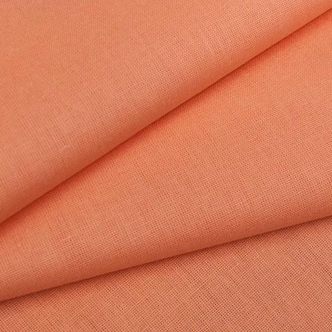 Бязь гладкокрашеная 120 гр/м2 220 см цвет персик