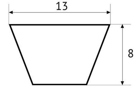 Ремень клиновой полиуретановый UNITED PARTS тип А (13мм) не армированный (прозрачный) 1 метр (PUA13)