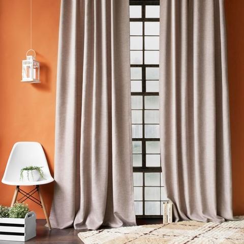Комплект штор с подхватами Белла коричневый