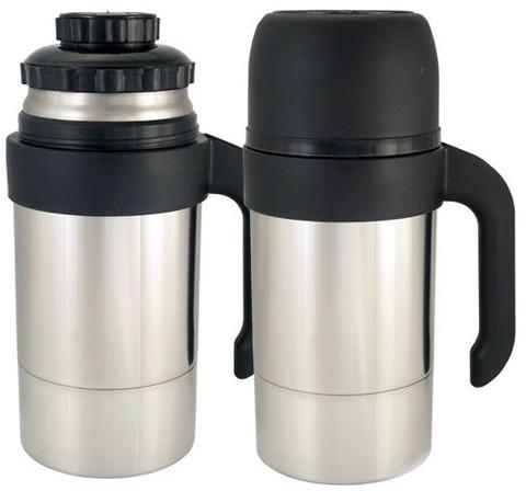 Термос универсальный (для еды и напитков) Амет КУ Турист (1 литр), декоративное покрытие