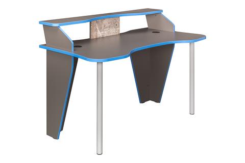Стол компьютерный Индиго 12.61 Моби темно-серый, граффити