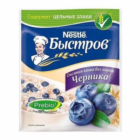 Каша БЫСТРОВ Овсяная Черника 40 гр м/у РОССИЯ