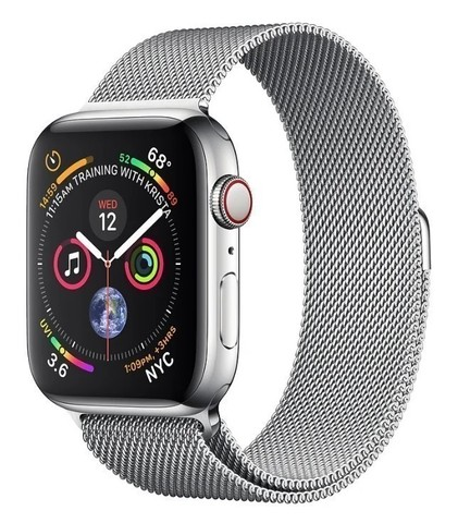 Watch S4 Cellular 44mm Silver Stainless Steel Case with Milanese Loop