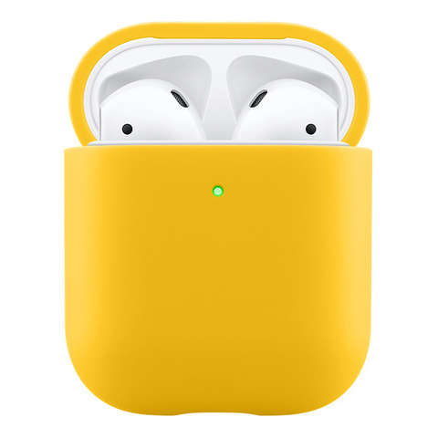 Чехол AIRPODS Silicone Case Yellow