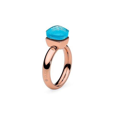 Кольцо Firenze dark aquamarine 17.8 мм 610910/17.8 BL/RG