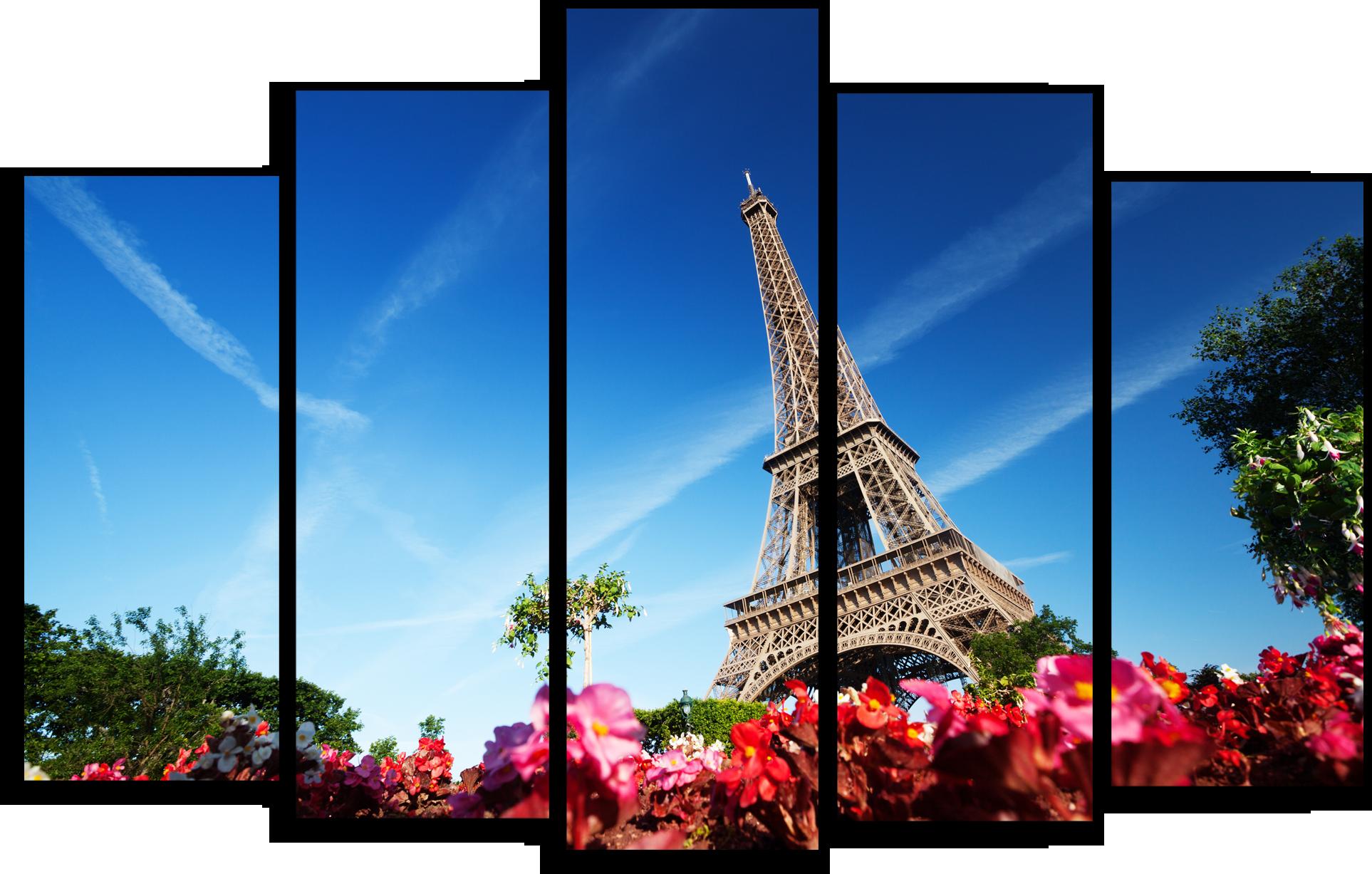 """Города Модульная картина """"Башня в Париже"""" М328.png"""