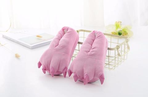 Тапочки когти розовые