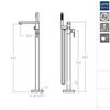 Напольный смеситель для ванны KUATRO NK 498502S - фото №2