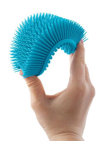 Губка для тела силиконовая (овал).