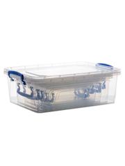 Набор из 6-ти контейнеров для хранения Эльфпласт Fresh Box Slim с крышками