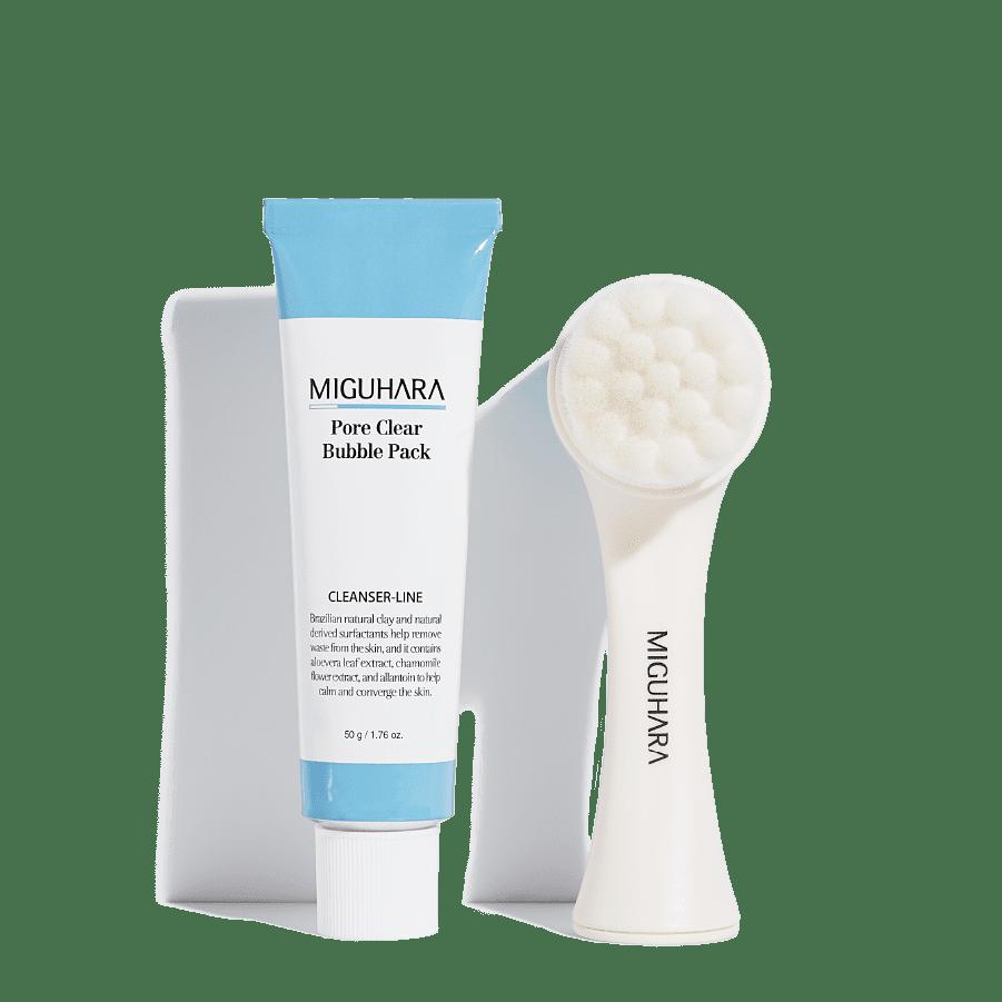MIGUHARA набор для глубокого очищения кожи Pore Clear Bubble Pack Origin + Brush for pore