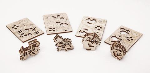 Трибики от Ugears - Деревянный конструктор, сборная модель, 3D пазл