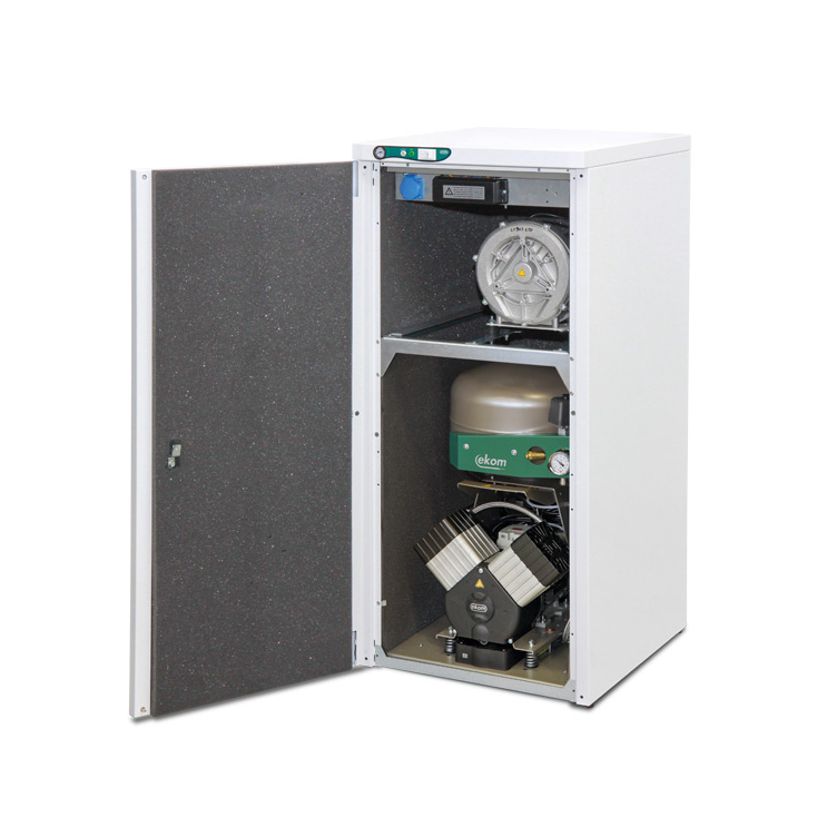 DUO 2V компрессор с аспиратором (2 установки) Ekom