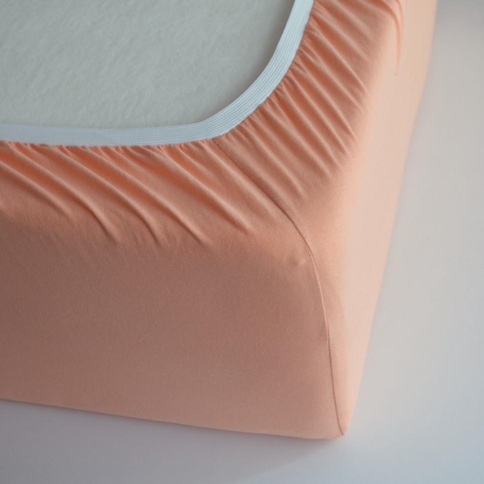 TUTTI FRUTTI персик - Полутораспальная простыня на резинке