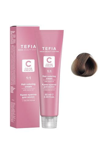 Крем-краска для волос с маслом монои 6.0 темный блондин 60 мл COLOR CREATS Tefia