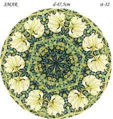 Эскиз для росписи, Круг диаметр-47,5см, SMAR-st-32