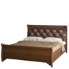Кровать двухместная №677 из набора мебели для спальни ФЛОРЕНЦИЯ (цвет - Дуб Оксфорд)