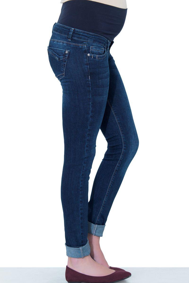Фото джинсы для беременных EBRU, зауженные, бандаж от магазина СкороМама, синий, размеры.