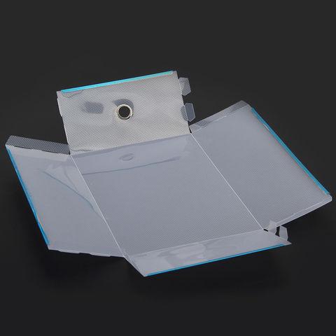 34*22*13 см пластиковая прозрачная коробка для мужской обуви до 49 размера с выдвижным ящиком