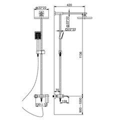 Душевая система KAISER SX-1113 схема