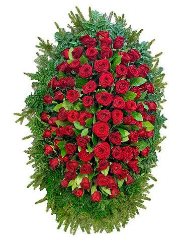 Траурный венок из живых цветов ВЖ 17 -180 см