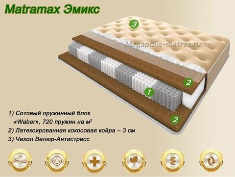 Матрас Матрамакс Эмикс купить недорого от Megapolis-matras.ru