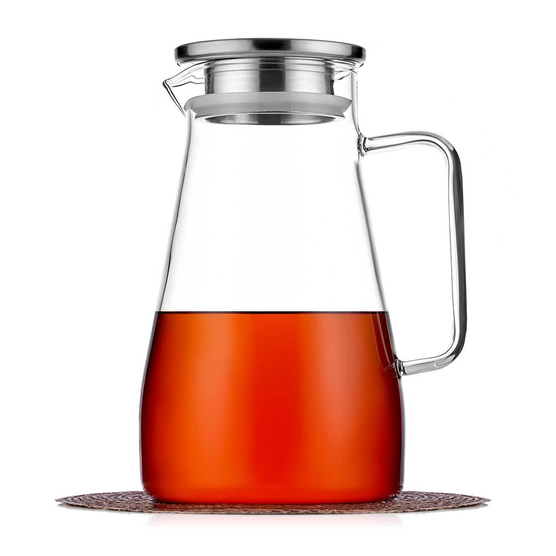 Кувшины, графины (для горячих и холодных напитков) Кувшин 1,5 л с фильтром в крышке стеклянный для воды, сока и других напитков kuvshin-steklo-4-008-1500-teastar.jpg