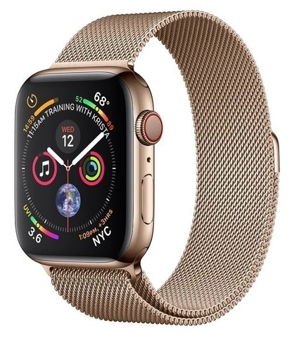 Watch S4 Cellular 44mm Gold Stainless Steel Case with Milanese Loop