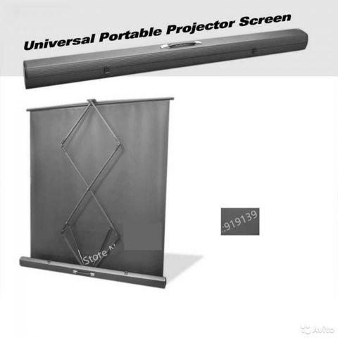 HD напольный выдвижной экран 100 дюймов 16:9