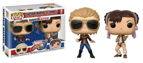 Фигурка Funko POP! Vinyl 2-Pack: Capcom vs. Marvel: Captain Marvel vs Chun-Li 22767