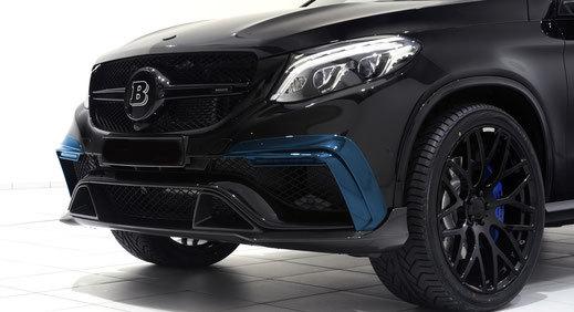 Карбоновые накладки переднего бампера с ДХО  для Mercedes GLE