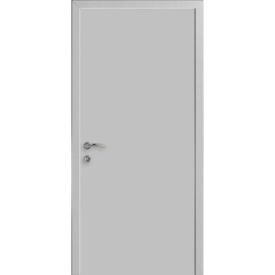 Для ванной и туалета Межкомнатная дверь влагостойкая Kapelli гладкая светло-серая RAL 7035 глухая kap-ral-7035-dvertsov-min.jpg