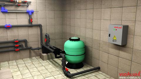 Фильтрационная система для фонтана объемом до 150 м3 (VI-FS-150)