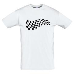 Футболка с принтом Формула-1 (Гонки/ F1/ Formula 1) белая 0026