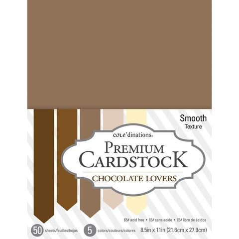 Набор  кардстока А4. Core'dinations Value Pack Smooth Cardstock 50л-Chocolate Lovers