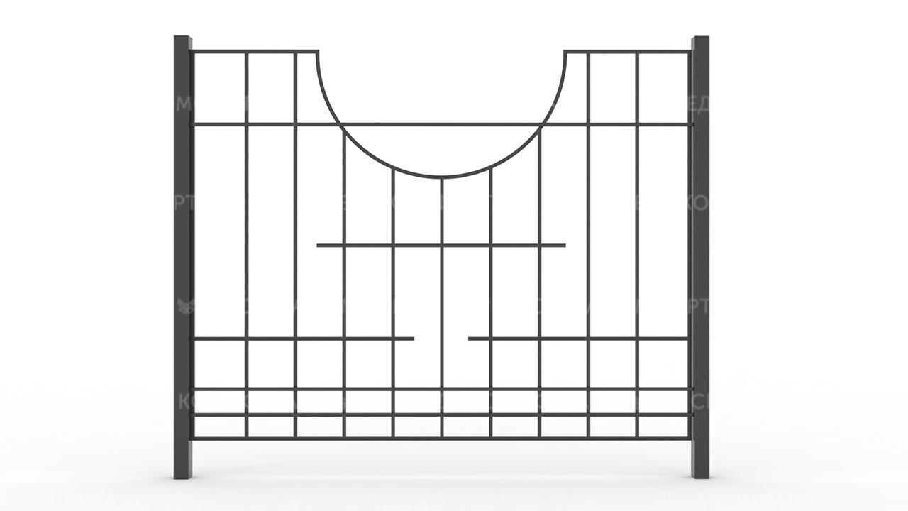 Забор из профильной трубы ZBR0157
