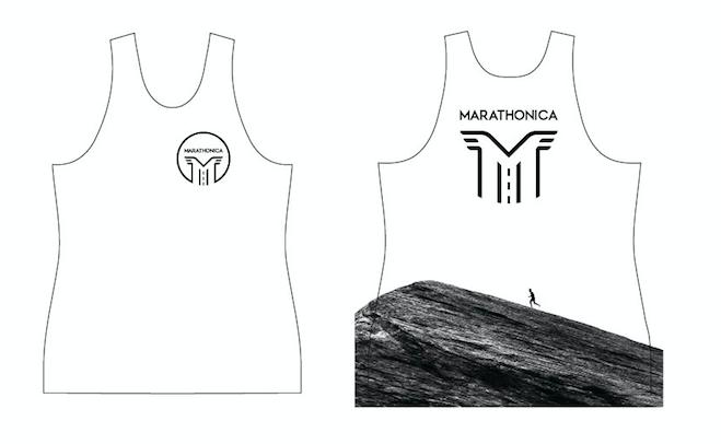 Майка клубная GRi marathonica, белая, женская