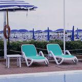 Шезлонг пластиковый Nardi Alfa sky blue