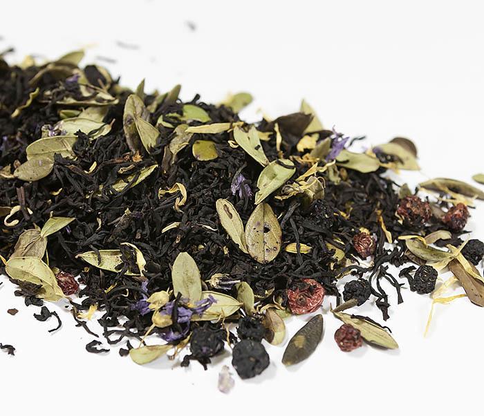 TEA-AR113 Черный ароматизированный чай «Таежный Сбор», черные типсы (50 гр) фото 02