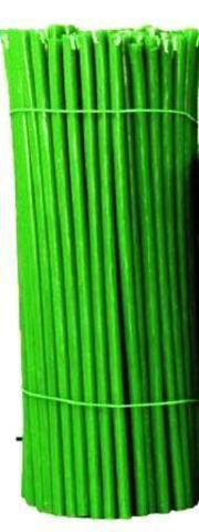 Зеленые восковые свечи 15 шт в наборе